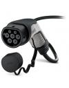 EV-T2G3C-3AC32A-4,0M6,0ESBK01  Cable vehículos electricos, extremo libre, Tipo 2, 32 A / 480 VAC, 4 m, negro, recto.