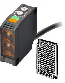 E3JKRR122MOMI   Fotocélula 50x50 Multialim. Espejo Polariz 6m Relé Cable 2m LITE  O-E