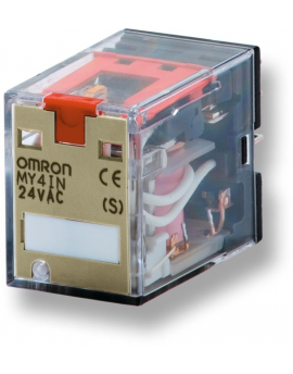 MY4IN4850ACS   4PDT 5A indicador pulsador prueba enchuf/soldar  O-E