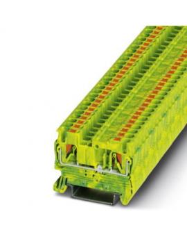 PT 2,5-PE     Borne de tierra para carril, Tipo de conexion:Conexion push-in, S