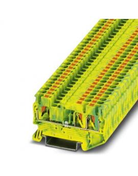 PT 2,5-TWIN-PE     Borne de tierra para carril, Tipo de conexion:Conexion push-