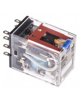 MY2IN24DCS   DPDT 10A Enchuf./soldar LED Indic.Puls. prueba  O-E