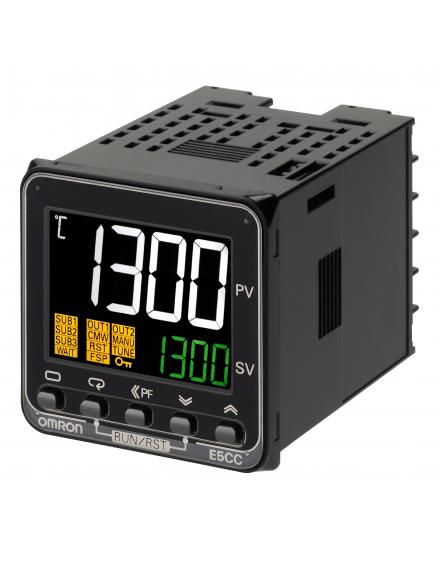 E5CCQX3A5M003    Ent Universal 3 Alarmas Sal SSR RS485 HBA Trif. 100-240Vca 48x48  COMP-G  Temperatura y Procesos