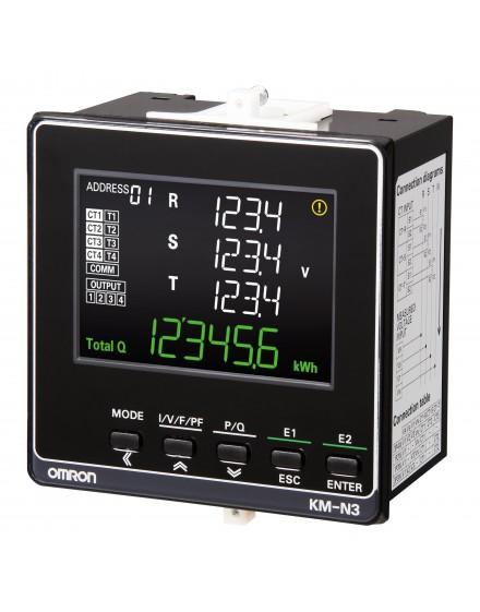 KMN3FLK   Medidor de energða Multicircuito Display LED Push-in+ 96x96  O-A