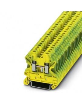 UT 2,5-PE     Borne de tierra para carril, Tipo de conexion:Conexion por tornillo, Seccion:0,14 mm²-4 mm², AWG:26-12, Anc