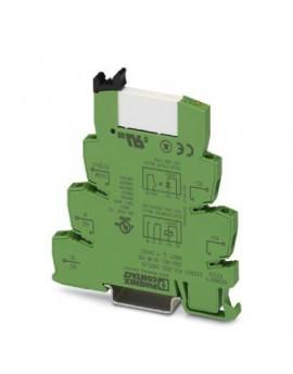 PLC-RSC- 24DC/21     Interfaz PLC, compuesta por borne de base PLC-BSC.../21 con conexion por tornillo y rele miniatura enchufab
