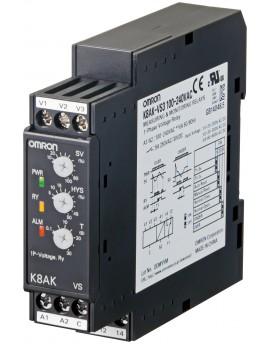 K8AKVS3100240VAC   Monof˜sico Tension Max o Min 200-600VAC/DC  100-240VAC 1SPDT  O-A