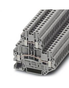 UTTB 2,5     Borne de doble piso, Seccion:0,14 mm²-4 mm², AWG:26-12, Tipo de conexion:Conexion por tornillo, Anchura:5,