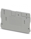 D-PT 10     Tapa final, Longitud:67,7 mm, Anchura:2,2 mm, Altura:42,6 mm, Color:gris  PHCE4